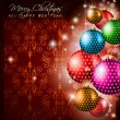 Classic Christmas Greetings background - Stock Vector