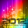 Stock Vector: 2012 New Year celebration background