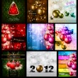 Amazing Collection of Christmas Flyers - Stock Vector