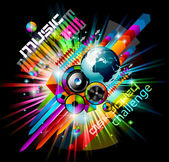 Alternative Discoteque Music Flyer — Stock Vector