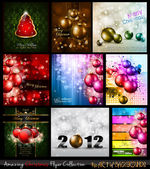 Amazing Collection of Christmas Flyers — Stock Vector