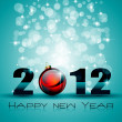 2012 New Year celebration background — Stock Vector #7816312
