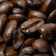 Fresh, dark arabica coffee beans. — Stock Photo