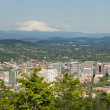 Portland Oregon Cityscape and Mount Hood — Stock Photo #6752640