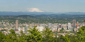 Portland Oregon Cityscape and Mount Hood — Stock Photo