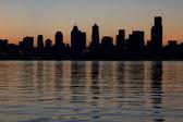 Seattle downtown skyline siluett — Stockfoto