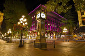 Historic Steam Clock in Gastown Vancouver BC — Stock Photo