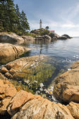 Point Atkinson Lighthouse in Vancouver BC Vertical — Stock Photo