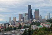Seattle Downtown Skyline on a Cloudy Day — Stock Photo