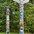 Royalty-Free Stock Photo: House Posts Totem Poles