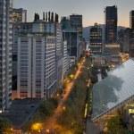 Vancouver bc stadsbilden på sunrise — Stockfoto