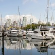 Granville Island Marinin Vancouver BC Panorama — Stock Photo #6946089