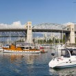 Marina under the Burrard Street Bridge Vancouver BC — Stock Photo #6946605