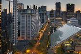 温哥华不列颠哥伦比亚省城市景观日出时 — 图库照片