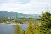 Lions Gate Bridge in Vancouver BC Canada — Stock Photo