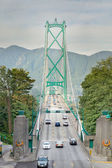 Lions Gate Bridge Entrance in Vancouver BC — Stock Photo