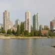 Vancouver BC Skyline and Burrard Bridge Panorama — Stock Photo #6978211