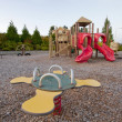 Neighborhood Public Park Children's Playground — Stock Photo