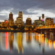 Portland Downtown Skyline at Sunset - Stock Photo
