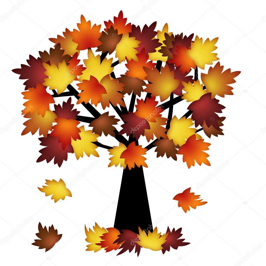 Hojas de oto o colorido rbol foto de stock 7129167 for Arboles que no se le caen las hojas en invierno