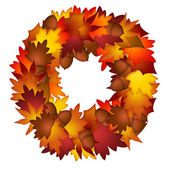Fall Leaves and Acorns Wreath — Stock Photo