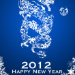 2012 Chinese Year of the Dragon Snowflakes — Stock Photo