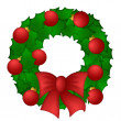 Holly Leaves Christmas Wreath — Stock Photo