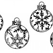 Christmas Ornaments Clipart — Stock Photo
