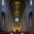 Historic Grace Cathedral Interior in San Francisco — Stock Photo