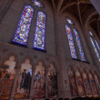Stained Glass and Wall Murals in Grace Cathedral — Stockfoto