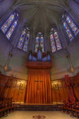 Pipe Organ Stained Glass Altar at Grace Cathedral — Stock Photo