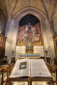 The Bible and the Crucifix at Grace Cathedral — Stock Photo