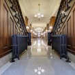 Hallway with Antique Radiator in Pioneer Courthouse - Stock Photo