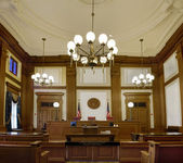 Pioneer Courthouse Courtroom in Portland Oregon Downtown — Stock Photo
