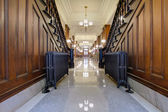 Hallway with Antique Radiator in Pioneer Courthouse — Stock Photo