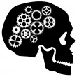 Skull with Gears Clipart — Stock Photo #7522993