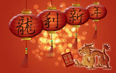 Happy Chinese New Year Dragon Holding Red Money Packet — Stockfoto