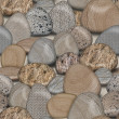 Pebble Rocks Seamless Tile Background — Stock Photo