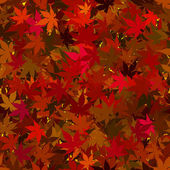 Fall Maple Leaves Seamless Background — Stockfoto