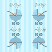 Its A Boy Blue Baby Pram Seamless Tile Background — Stock Photo