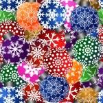 Christmas Tree Ornaments Seamless Tile Background — Stock Photo #7635956