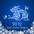 Stock Photo: Chinese New Year Dragon with Snowflakes Pattern