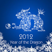 Chinese New Year Dragon with Snowflakes Pattern — Stock Photo