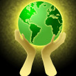 Royalty-Free Stock Photo: Hands Holding World Globe Illustration