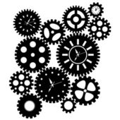 Time Clock Gears Clipart — Foto de Stock