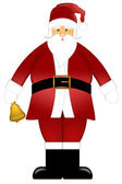 Santa Claus Ringing Bell Clipart Isolated on White Background — Stock Photo