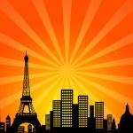 Paris France Downtown City Skyline — Stock Photo #7829225