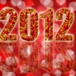 2012 Chinese Year of the Dragon Red Background — Foto Stock
