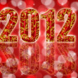 2012 Chinese Year of the Dragon Red Background — 图库照片