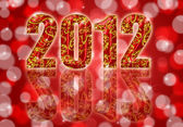 2012 Chinese Year of the Dragon Red Background — Stock Photo